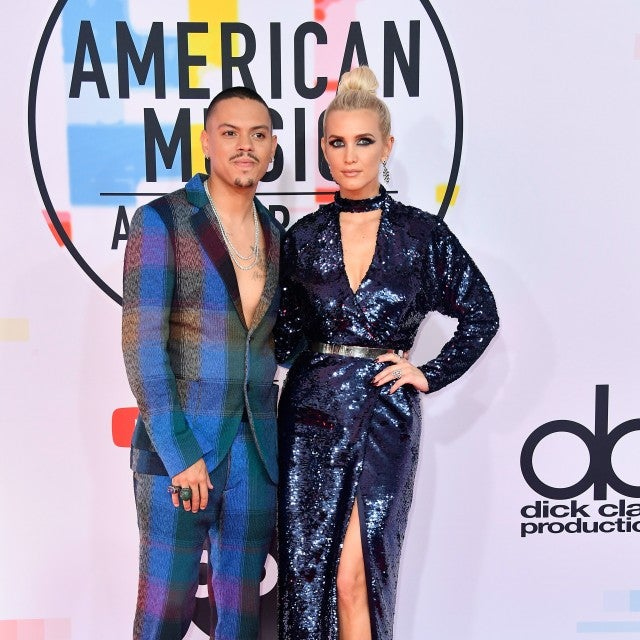 Evan Ross and Ashlee Simpson 2018 AMAs