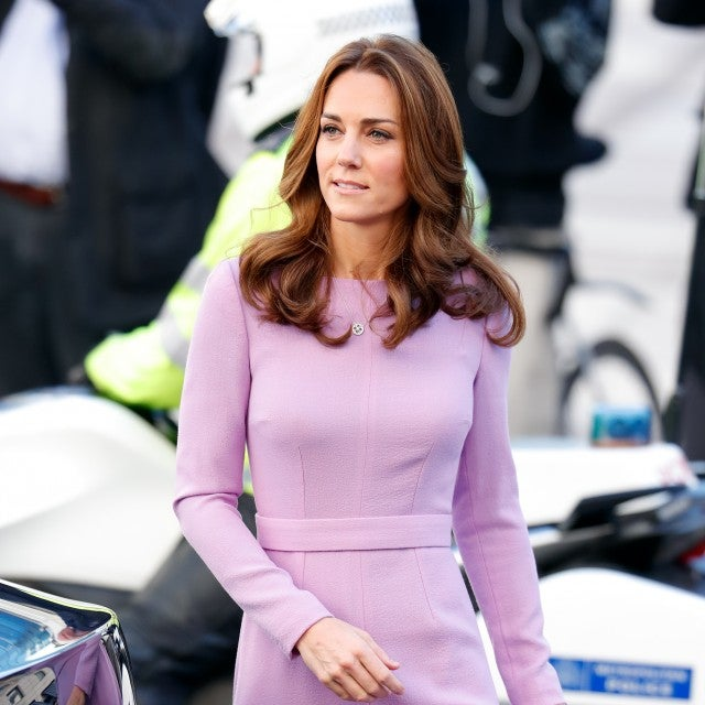 Kate Middleton in lilac dress