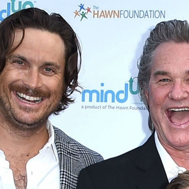 Oliver Hudson and Kurt Russell