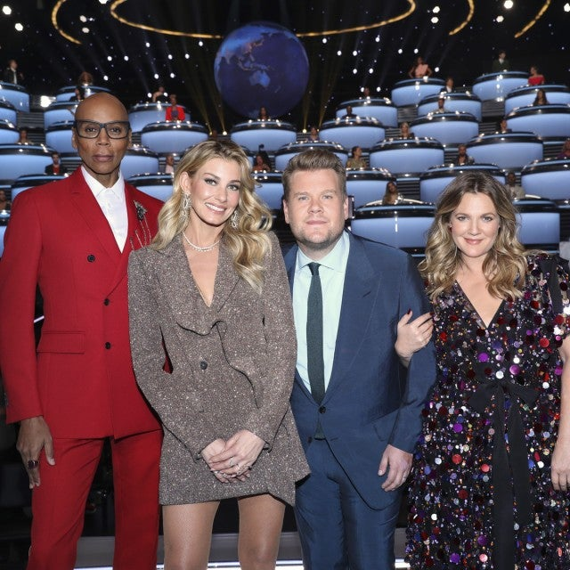 REW BARRYMORE,  RUPAUL CHARLES, JAMES CORDEN AND FAITH HILL