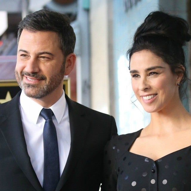 Jimmy Kimmel and Sarah Silverman at her Walk of Fame Ceremony