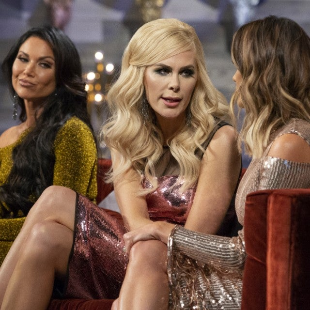 LeeAnne Locken looks on as Kameron Westcott confronts Cary Deuber on 'The Real Housewives of Dallas' season three reunion.