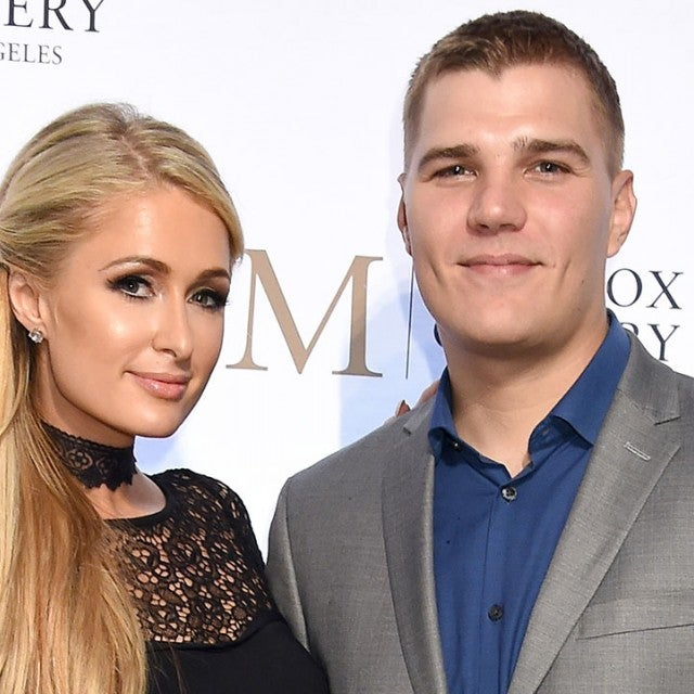 Paris Hilton and Chris Zylka in October 2018