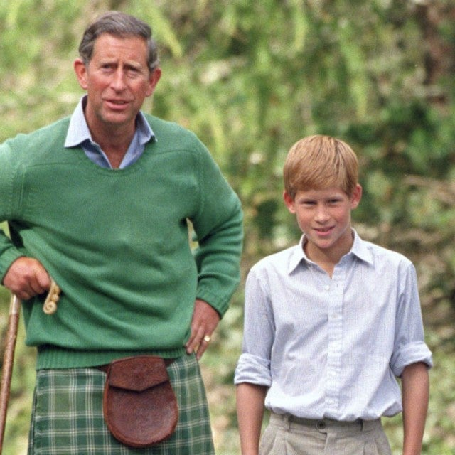 Prince Charles, Harry, and William