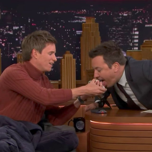 Eddie Redmayne and Jimmy Fallon