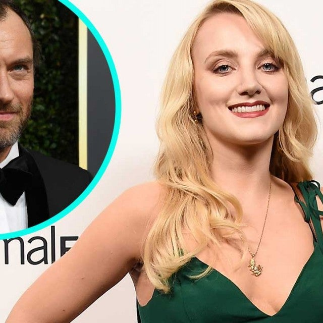 Evanna Lynch and Jude Law (inset)