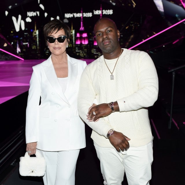 Kris Jenner and Corey Gamble at vs fashion show after party