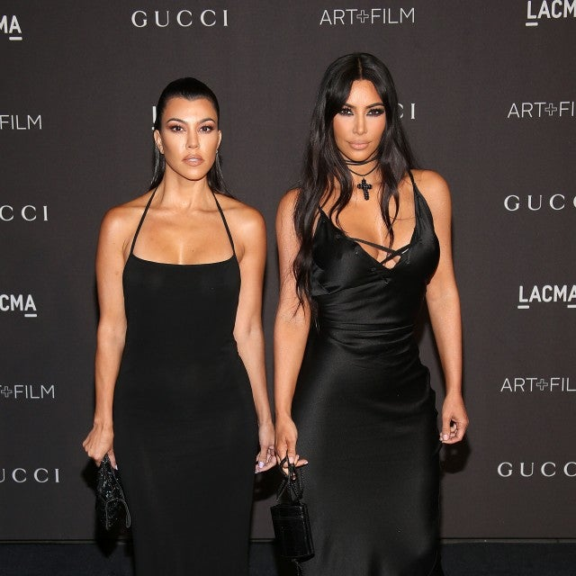 ourtney Kardashian and Kim Kardashian at the 2018 LACMA Art + Film Gala