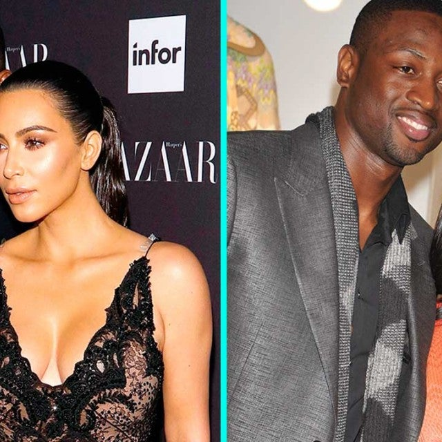 Kanye West and Kim Kardashian (left), Dwyane Wade and Gabrielle Union (right)
