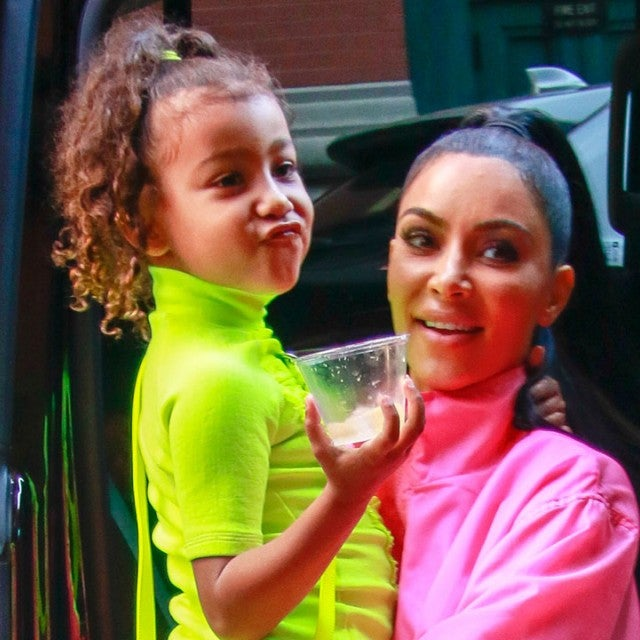 North West and Kim Kardashian in NYC - Sept 2018