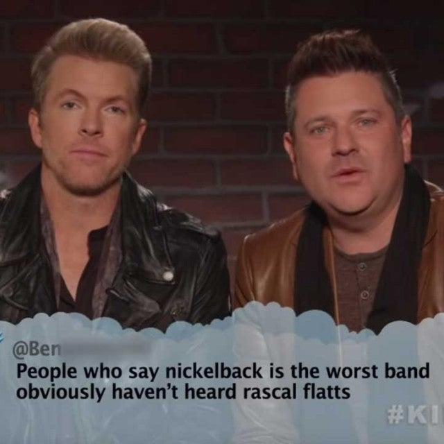 Rascal Flatts on Jimmy Kimmel's 'Mean Tweets' Country Edition