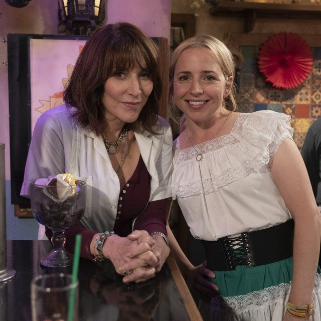 Katey Sagal and Lecy Goranson on The Conners