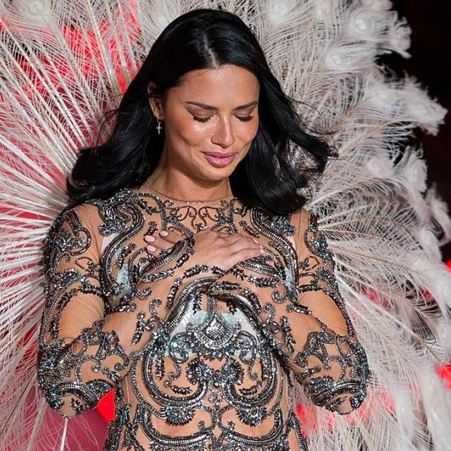 Adriana Lima tears up at the 2018 Victoria's Secret Fashion Show