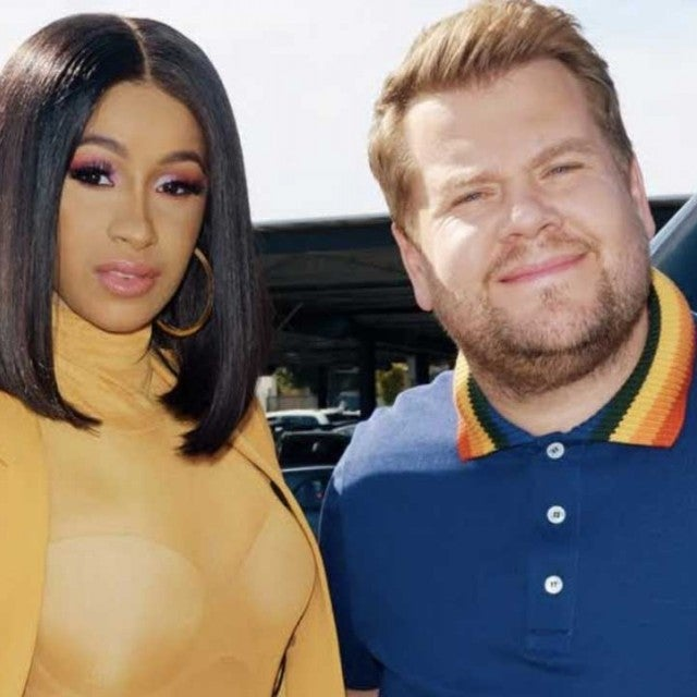 Cardi B and James Corden on 'Carpool Karaoke'