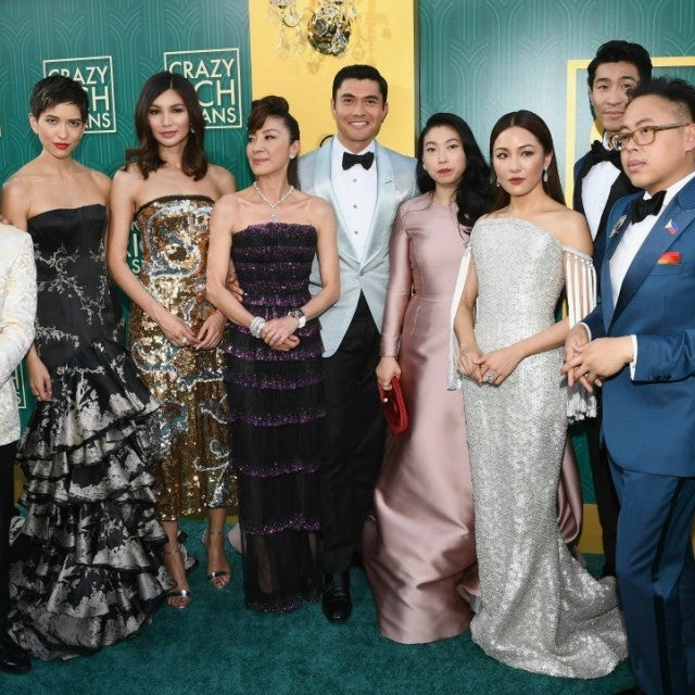 Crazy Rich Asians cast with director Jon M Chu