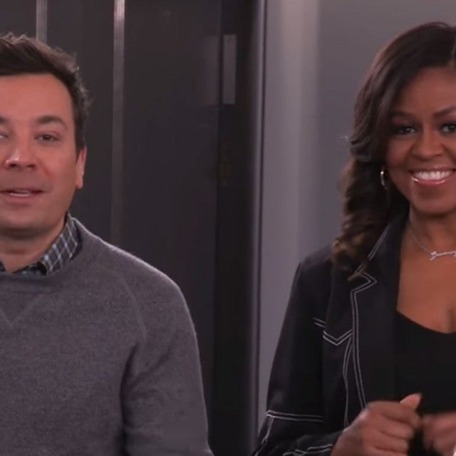 Jimmy Fallon and Michelle Obama