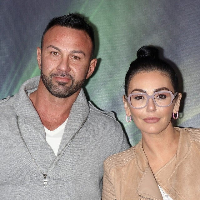 Roger Mathews and Jenni 'JWoww' Farley at Dreamworks Trolls The Experience opening