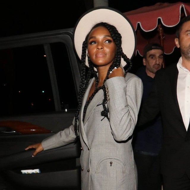 Janelle Monae in blazer at Delilah in West Hollywood