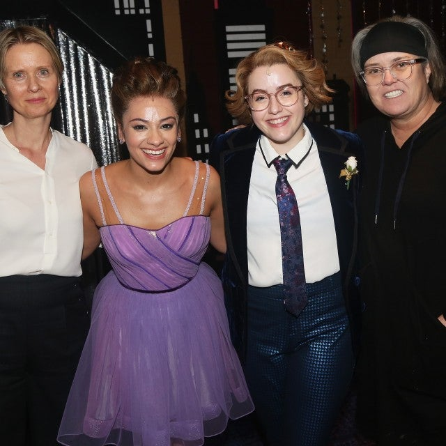 Cynthia Nixon and Rosie O'Donnell backstage at The Prom on Broadway