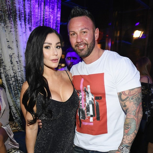 JWoww and Roger Mathews at Jersey Shore Family Vacation premiere party in April 2018