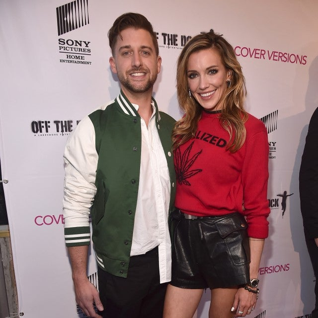 Matthew Rodgers and Katie Cassidy attend the premiere of Sony Pictures Home Entertainment and Off The Dock's 'Cover Versions' at The Landmark Regent on April 9, 2018 in Los Angeles, California.