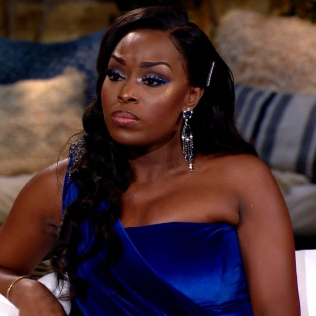 Quad Webb-Lunceford stares daggers at former friend Mariah Huq on part one of the 'Married to Medicine,' season six reunion.