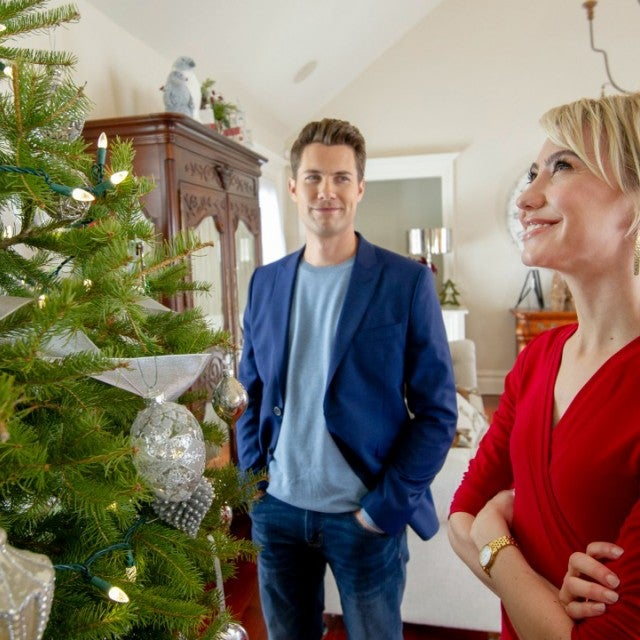 Chelsea Kane and Drew Seeley in Hallmark's Christmas for the Books