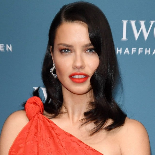 Adriana Lima in red in Geneva