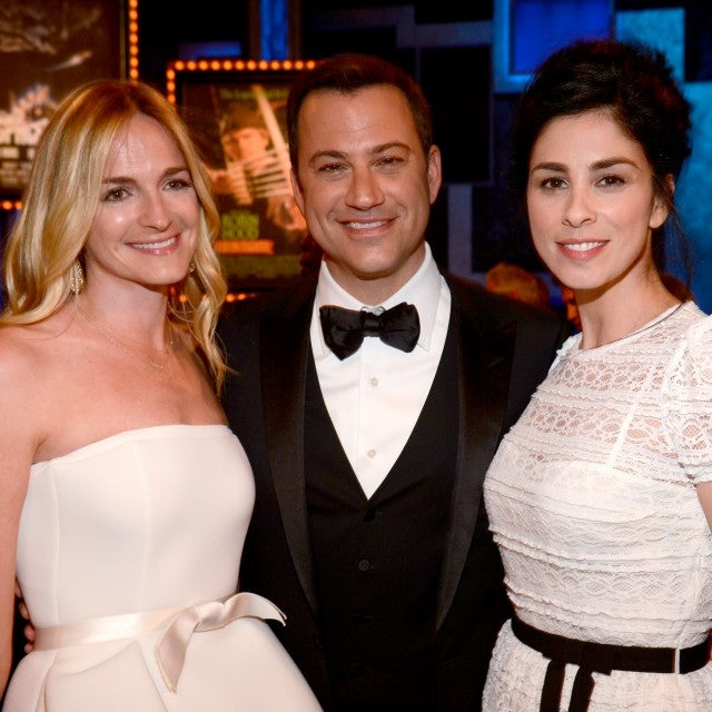 Molly McNearney, Jimmy Kimmel and Sarah Silverman