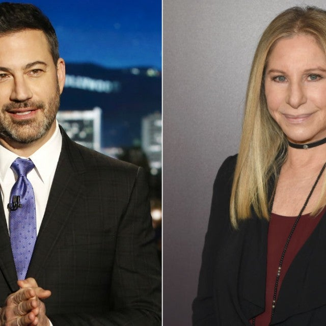Jimmy Kimmel and Barbra Streisand