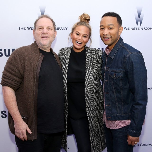 Harvey Weinstein, Chrissy Teigen and John Legend attend Samsung Studio and Harvey Weinstein Host Annual Weinstein Sundance Bowl Football Party During The Sundance Film Festival 2016 on January 24, 2016 in Park City, Utah.