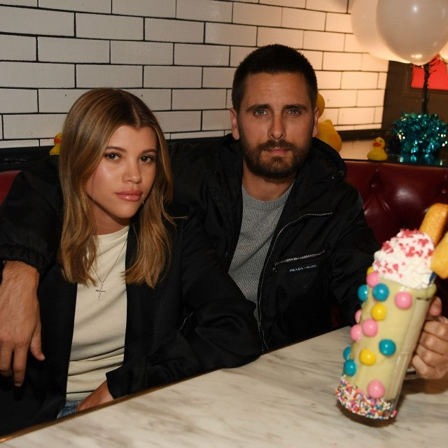 Sofia Richie and Scott Disick in vegas