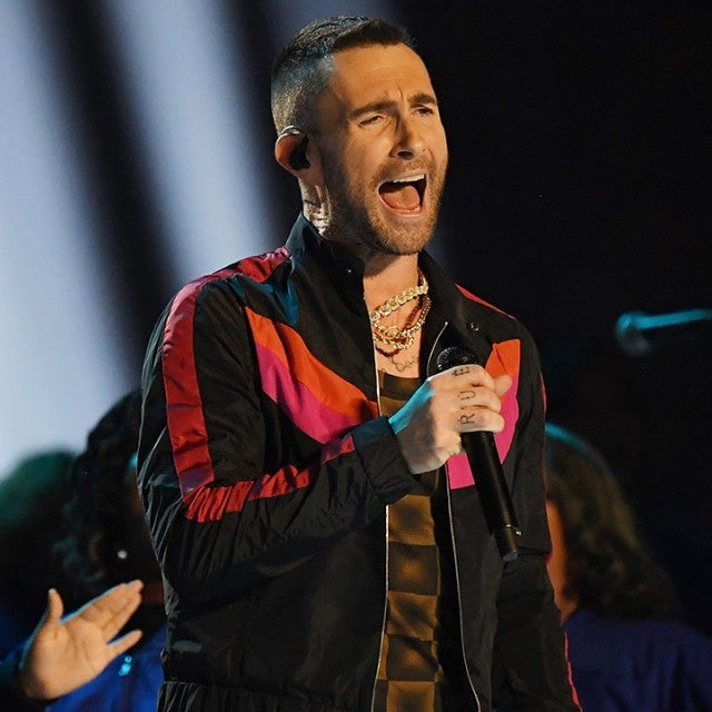 Maroon 5 performs during super bowl