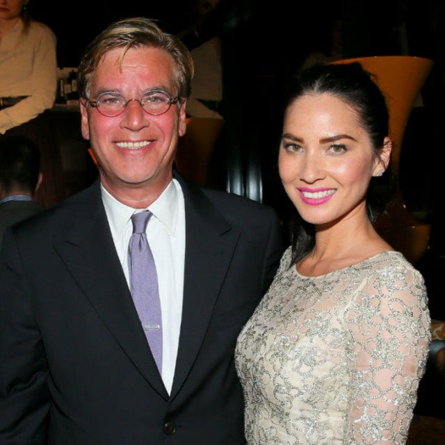 Aaron Sorkin and Olivia Munn