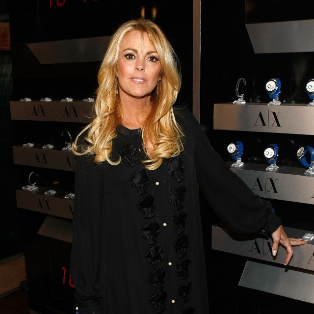 Dina Lohan arrives at the launch of A/X Watches at the SLS Hotel on April 15, 2009 in Los Angeles, California.