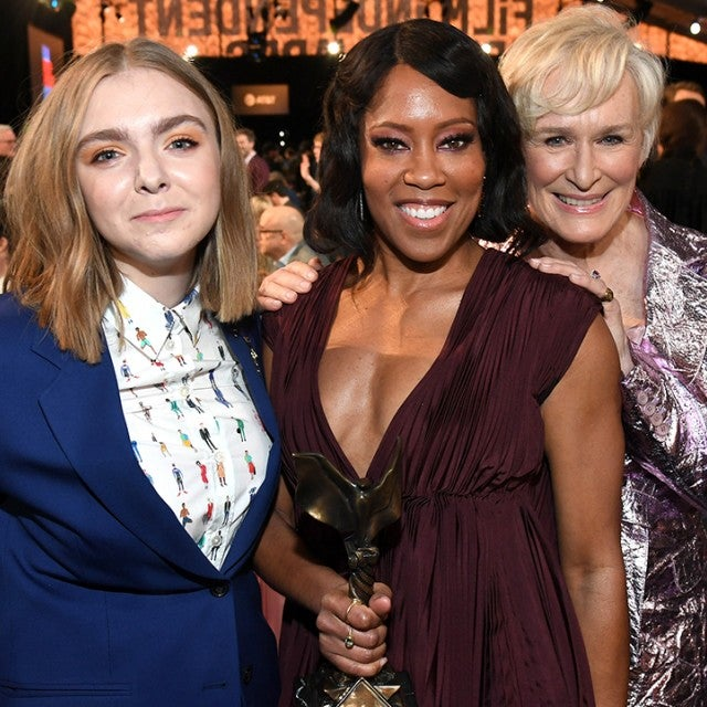 Elsie Fisher, Regina King and Glenn Close at Spirit Awards 2019