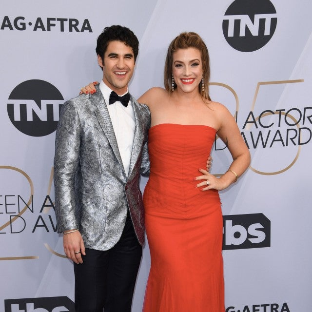 Darren Criss and Mia Swier at 25th Annual Screen Actors Guild Awards
