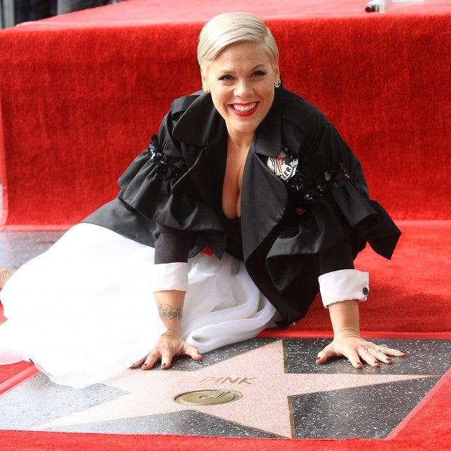 Pink gets star on walk of fame