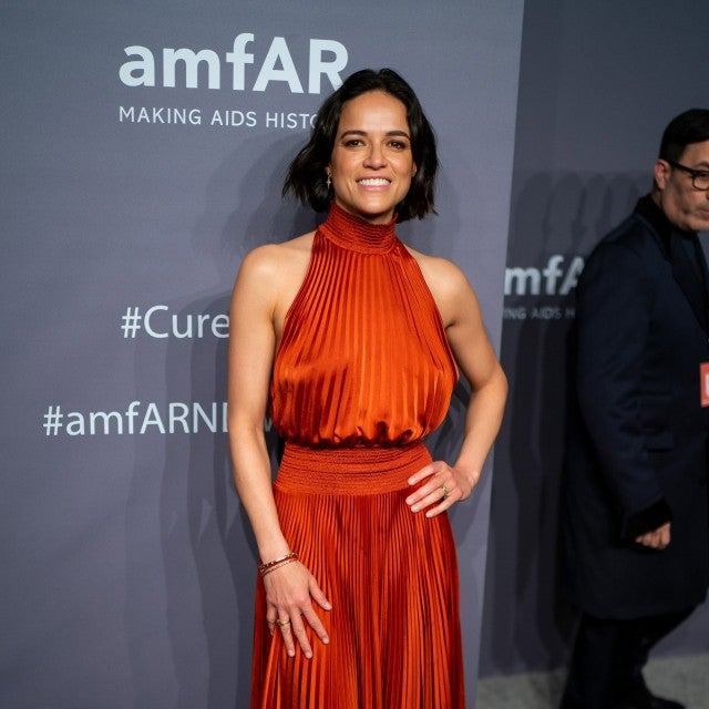 Michelle Rodriguez attends the 2019 amfAR New York Gala at Cipriani Wall Street on February 06, 2019 in New York City.