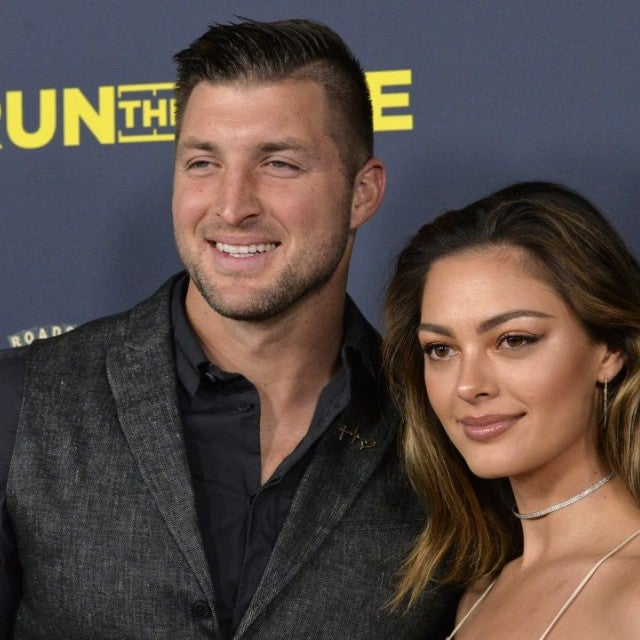 Tim Tebow and Demi-Leigh Nel-Peters at Run to Race