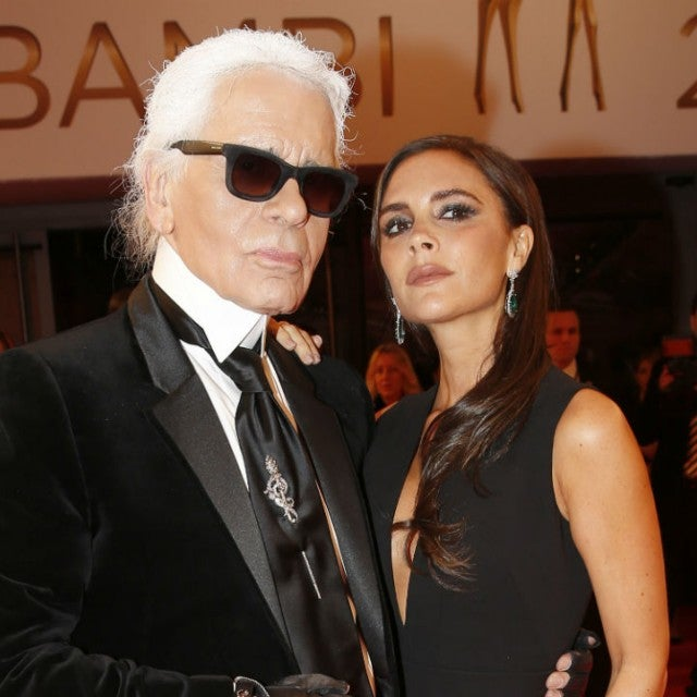 Karl Lagerfeld and Victoria Beckham