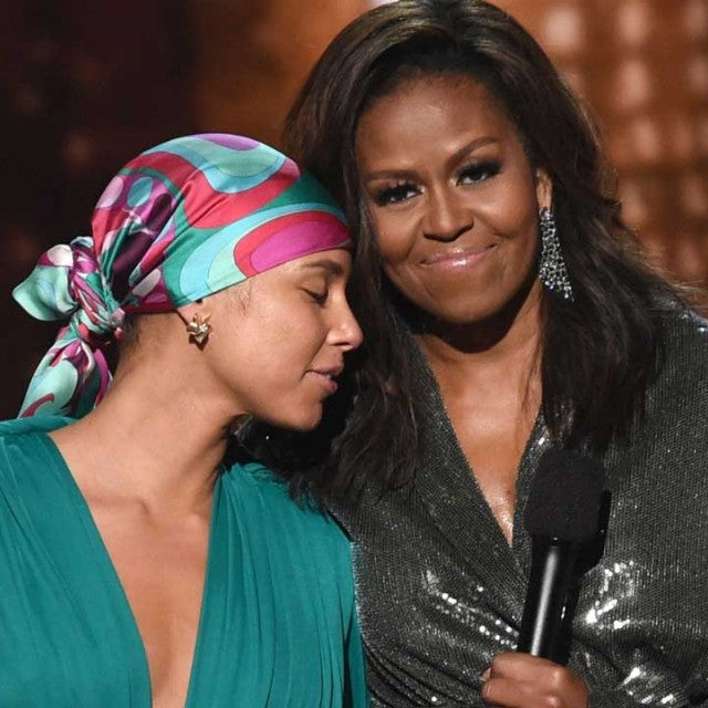 Alicia Keys and Michelle Obama at the 2019 GRAMMY Awards