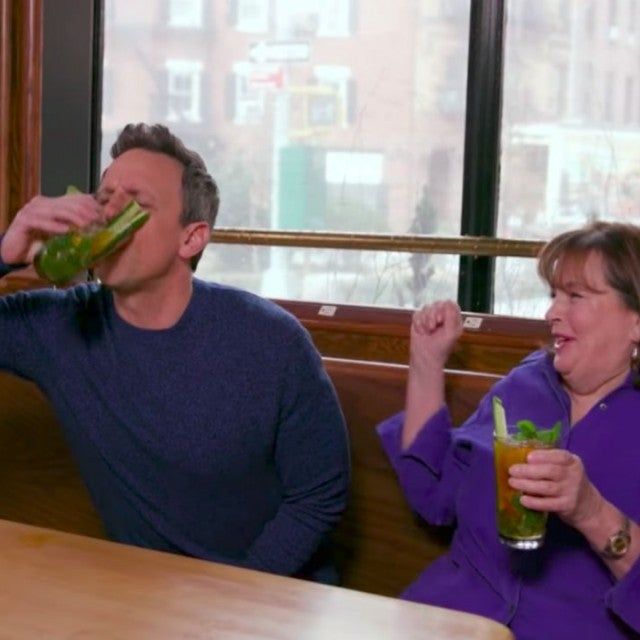 Seth Meyers and Ina Garten