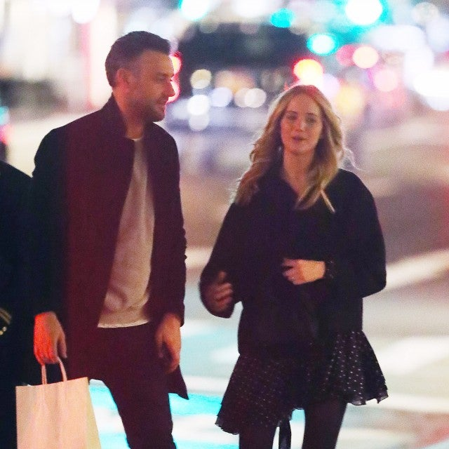 Jennifer Lawrence is spotted for the first time since becoming engaged to Cooke Maroney. The 28 year old actress flashed her ring as she headed out on a date with her 34 year old beau in New York City. The couple spent the night at the famed Soho French Bistro Raoul's before returning to their Upper East Side apartment.