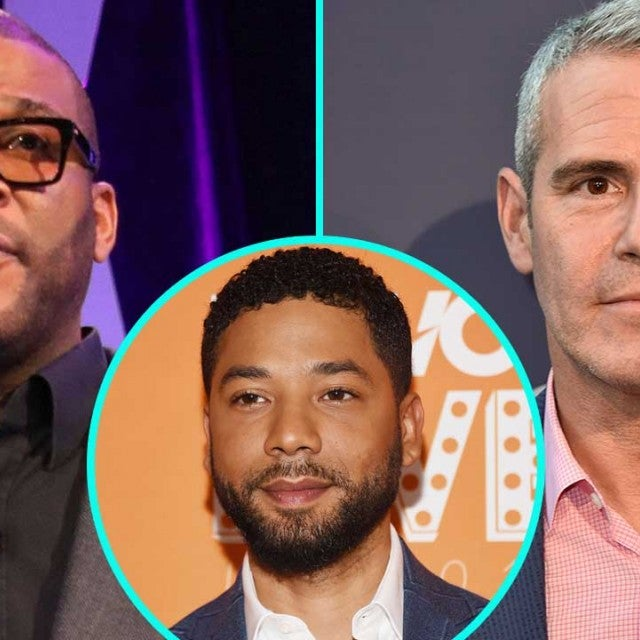 Tyler Perry, Andy Cohen and Jussie Smollett (inset)