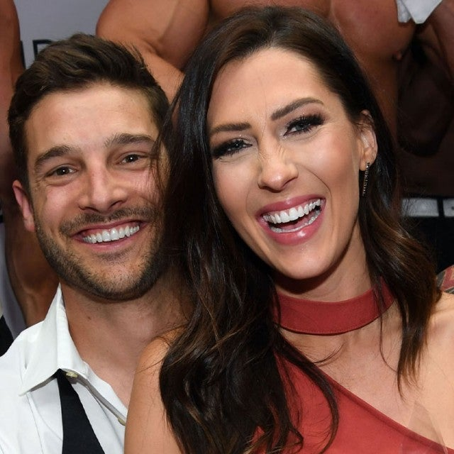 Becca Kufrin and Garrett Yrigoyen at chippendales