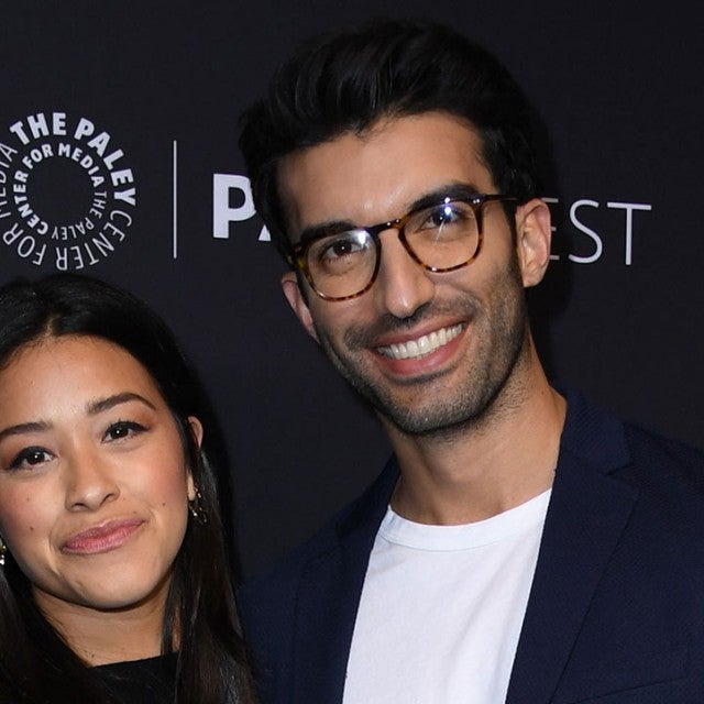 Gina Rodriguez and Justin Baldoni at paleyfest