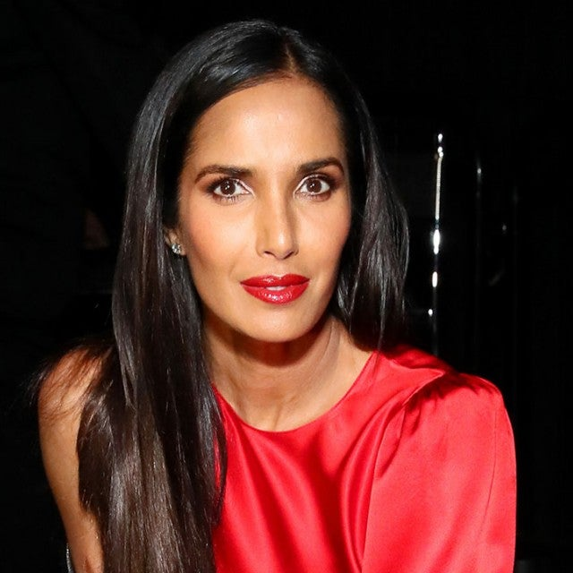 Padma Lakshmi backstage at The American Heart Association's Go Red for Women Red Dress Collection 2019