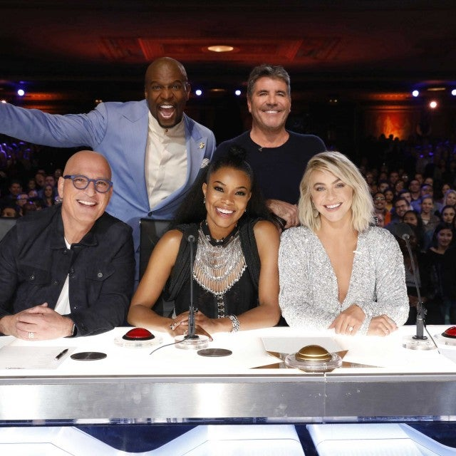Terry Crews, Simon Cowell, Howie Mandel, Gabrielle Union and Julianne Hough tape auditions for Season 14 of 'America's Got Talent'