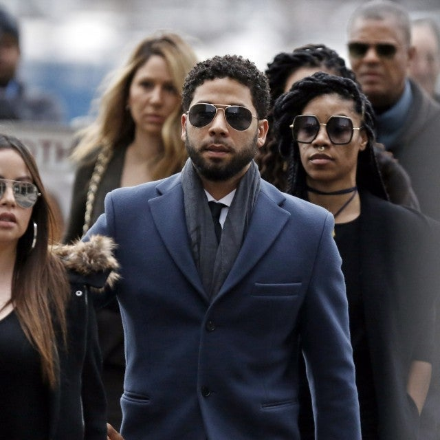 Jussie Smollett arrives at the Leighton Criminal Courthouse on March 14, 2019 in Chicago, Illinois. Smollett stands accused of arranging a homophobic, racist attack against himself in an attempt to raise his profile because he was dissatisfied with his salary on the Fox television drama 'Empire.'
